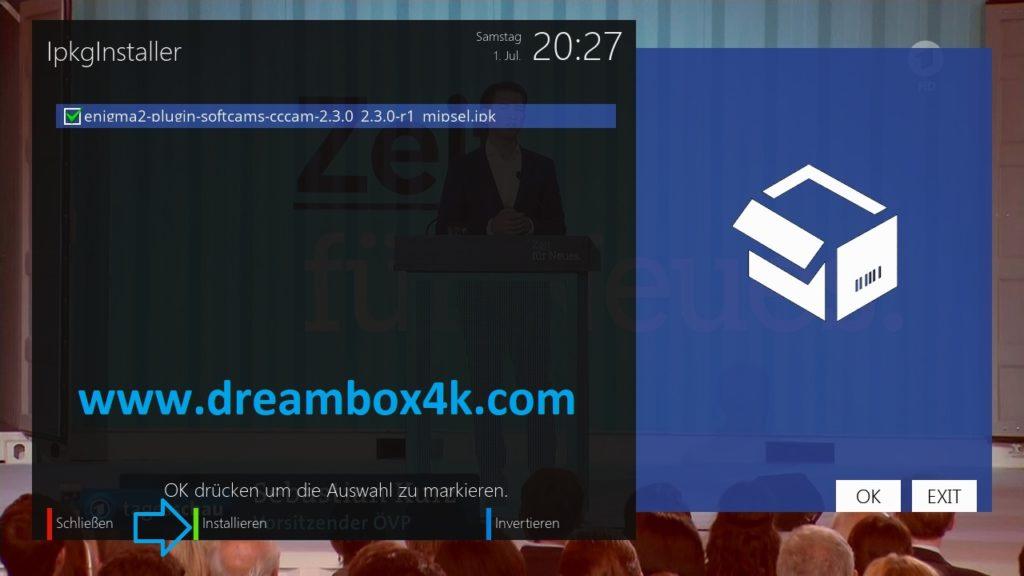 TUTO] Installieren Sie CCCAM auf OpenATV – Dreambox4K