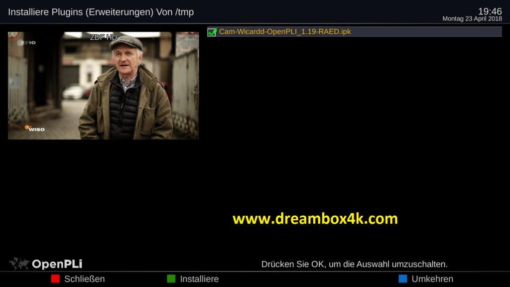 TUTO] Installieren Sie Wicardd auf OpenPLi – Dreambox4K