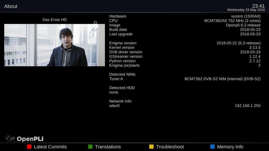 BACKUP] OpenPLi 6 2 for Vu+ ZERO (DREAMBOX4K) – VUPLUS4K