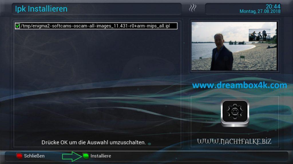 TUTO] Installieren Sie OSCAM auf OpenNFR – Dreambox4K