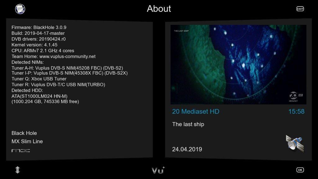 IMAGE] BLACKHOLE 3 0 9 Multistream – Dreambox4K